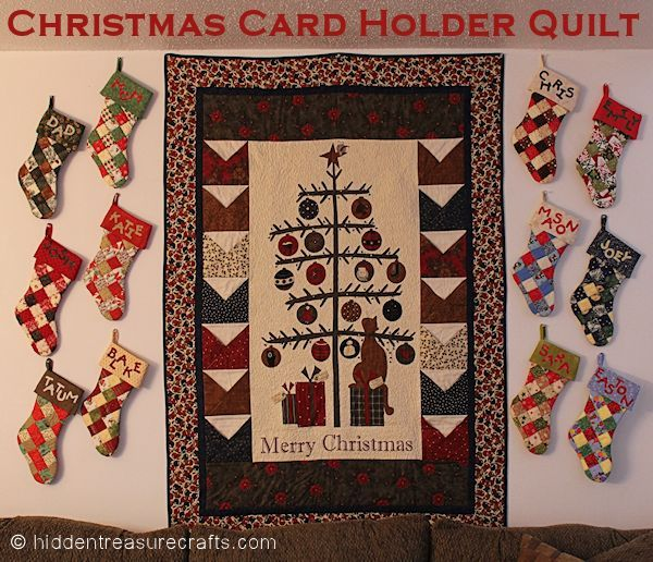 17 best images about fun fabric and panels on pinterest for Christmas card holder craft project