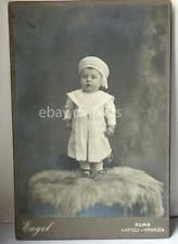 ENGEL NAPOLI vecchia foto cartonata cabinet bambina marinaio Hidden mother