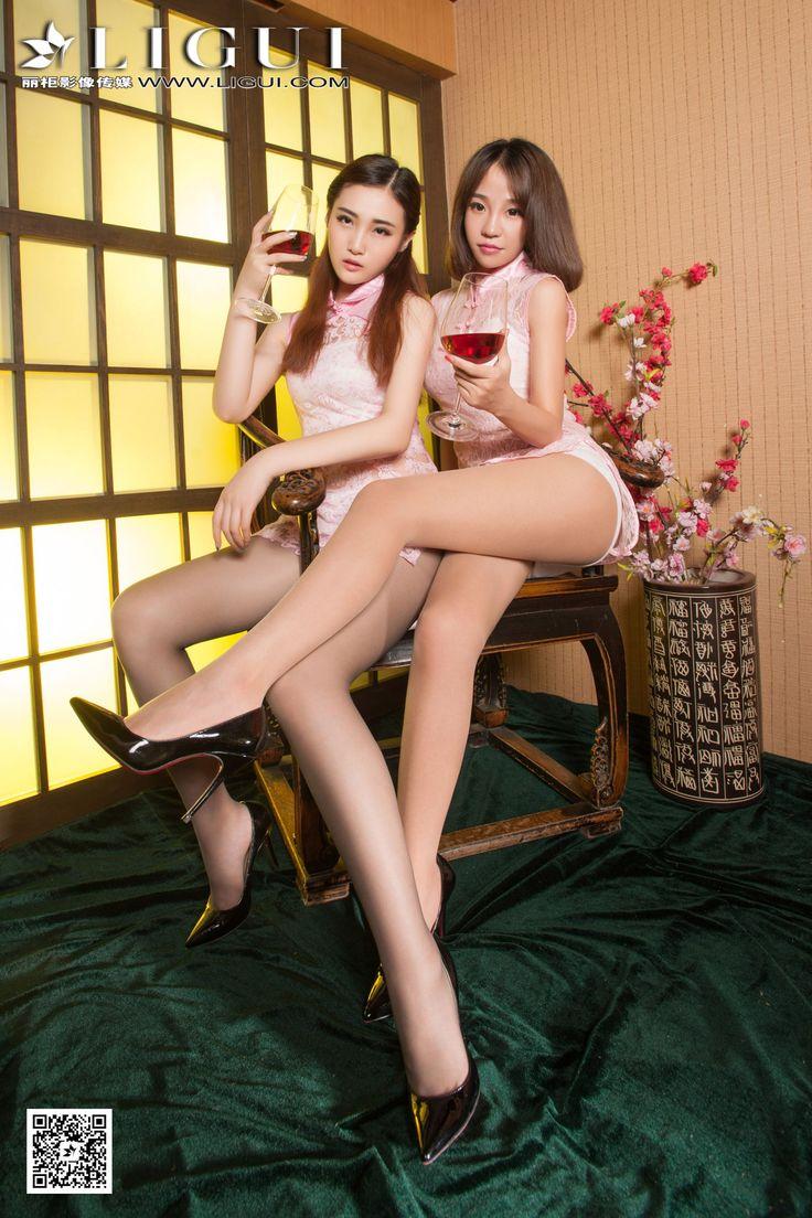[Ligui丽柜] ALAN&诺言 - 蕾丝旗袍丝足美腿套图_第3页/第2张图