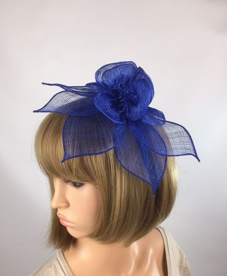 Royal Blue Fascinator - Occasion Weddings Races Mother of the Bride  | eBay