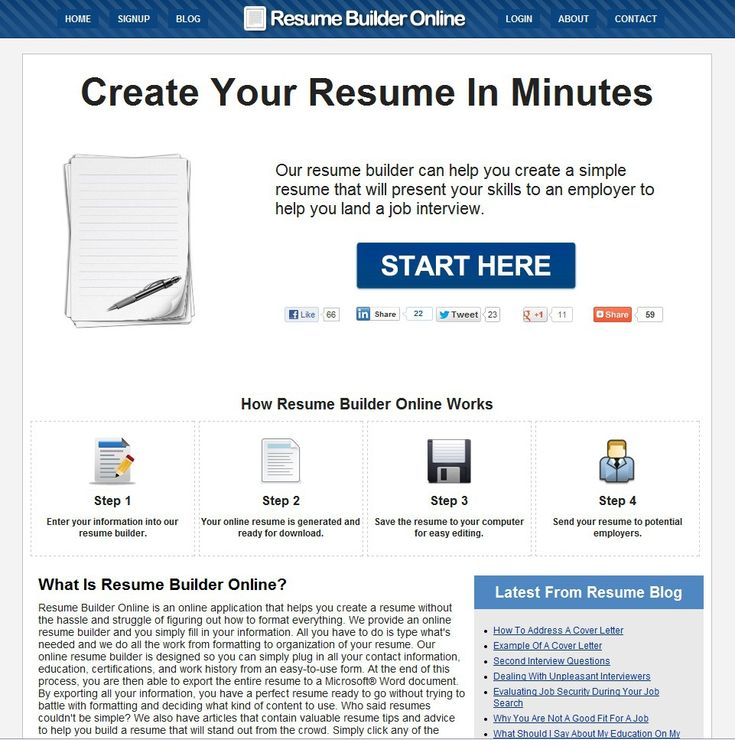 free resume download and builder