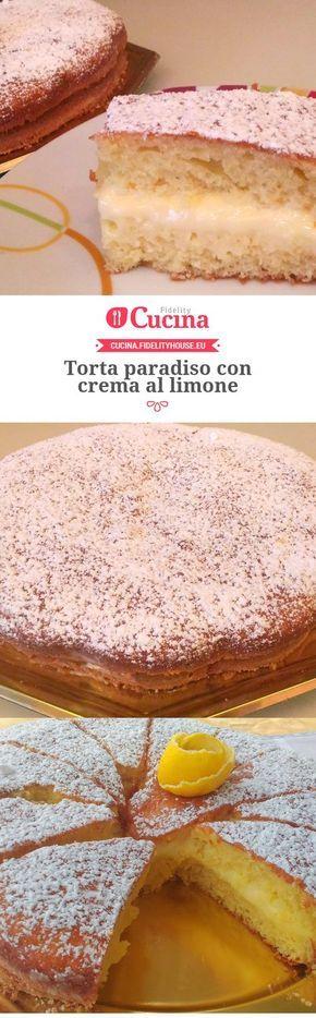 Torta paradiso con crema al limone