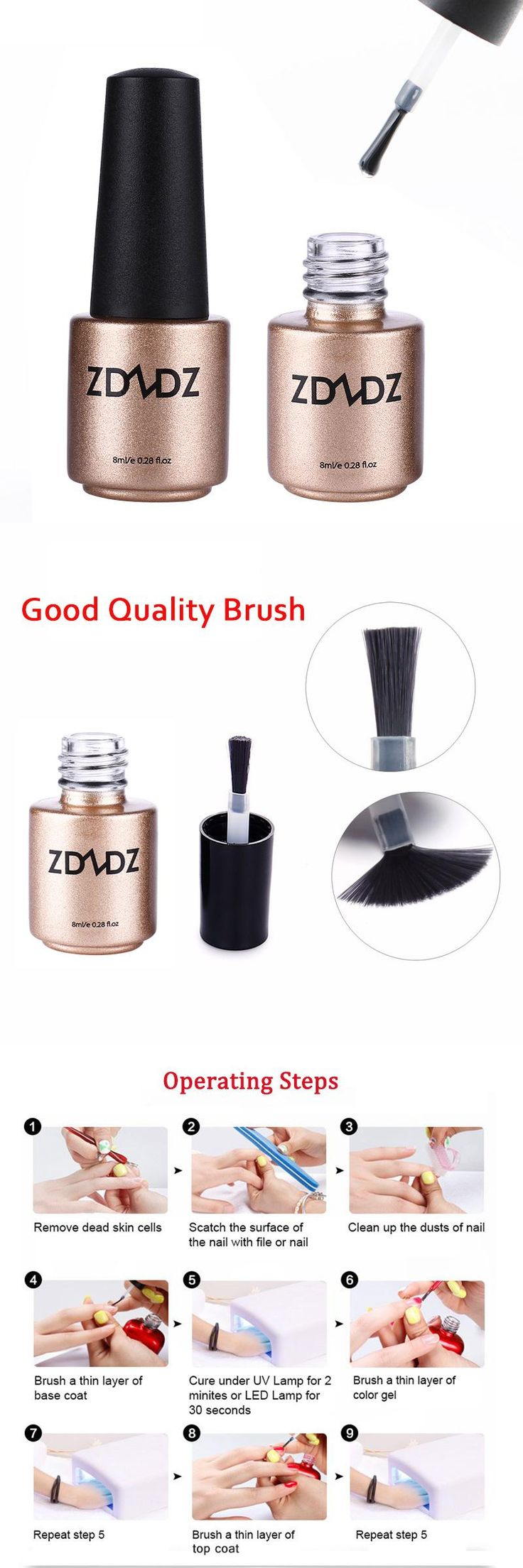 [Visit to Buy]  8ML Wipe Top Coat Long Lasting Gel Nail Polish Cover Germany Health Resin Material DIY Nail Tools #Advertisement