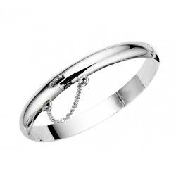 Childrens Hinged  Silver Bangle #Jewellery #Gifts