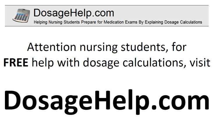 how to solve nursing dosage calculations