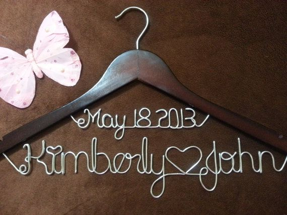 Personalized Wedding Hangers, Bridal Hangers, Bride gift, Wedding Gift,custom made wedding Hangers, Name Hanger,shower gifts on Etsy, $24.99