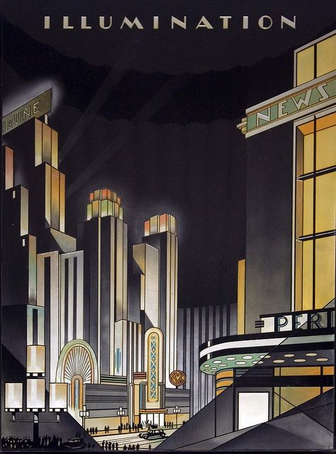 art deco; One of four murals in the building's lobby. (Taken from the National Register)