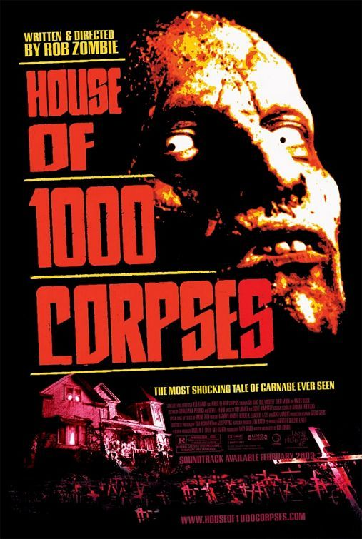 House of 1000 Corpses Movie Poster - SICK Rob Zombie horror film