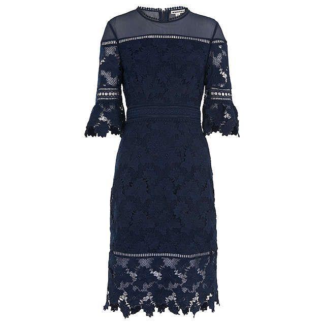 BuyWhistles Amanda Lace Dress, Navy, 6 Online at johnlewis.com