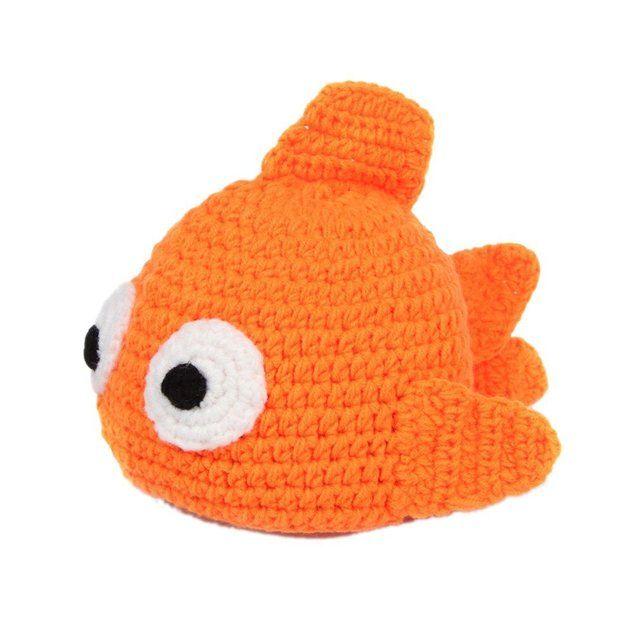C-Princess ベビー 赤ちゃん 超可愛く変身  オレンジ魚帽子