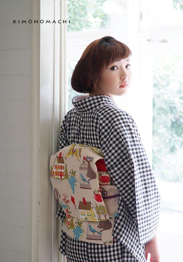 木綿の着物と木綿の名古屋帯の2点木綿着物セット (メール便不可:006765:京都きもの町 - Yahoo!ショッピング - ネットで通販、オンラインショッピング