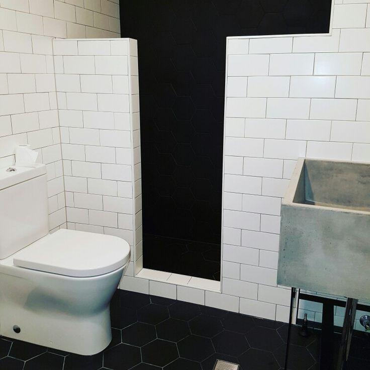 Industrial style bathroom #bathroom #bathroomdesign #homedesign #bathroomreno #bathroomrenovation