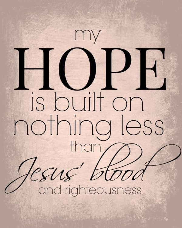 FREE PRINTABLE to remind us of our only HOPE: JESUS. by deanna