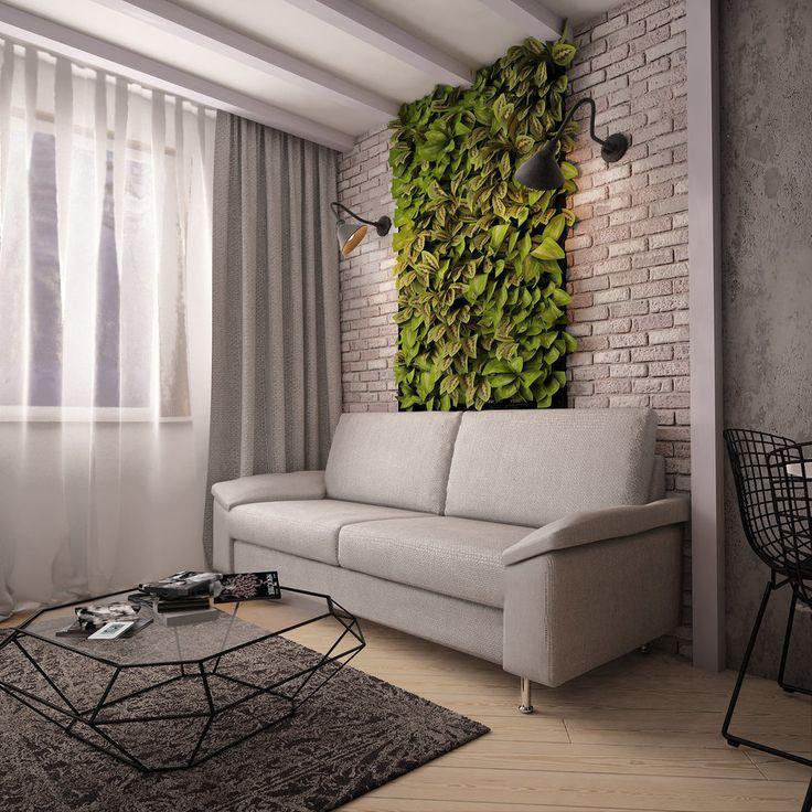 Фотография: Гостиная в стиле Лофт, Скандинавский, Квартира, Планировки, Мебель и свет, Белый, Проект недели, Черный,…