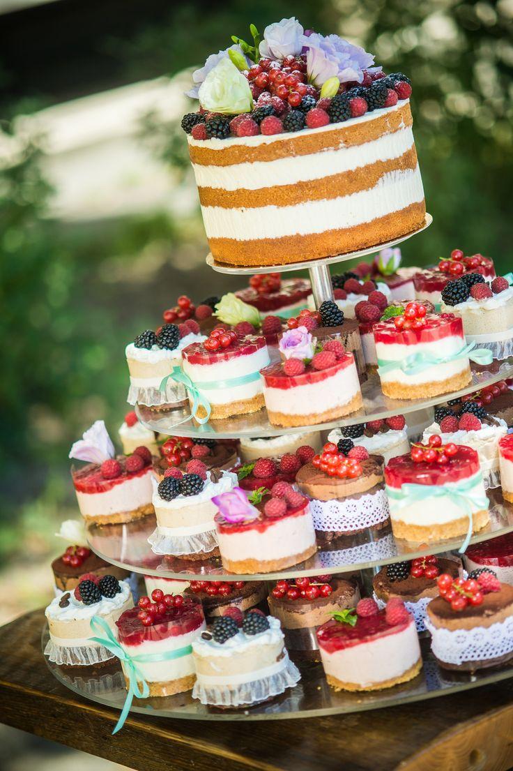 Hochzeitstorte happines Farbe Liebe nackte Torte vintige Torte Geburtstagstorte Obstkuchen …   – Wedding