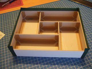 """DIY: making a box with compartments - in French --- Au fil de Belzépha: Tuto de la boîte à bijoux """"Arlequin"""""""