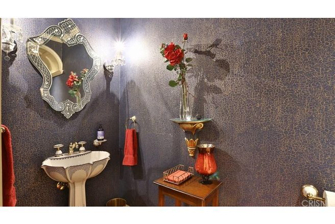 Stunning powder room from the old Roy Disney Jr. home in Glendale