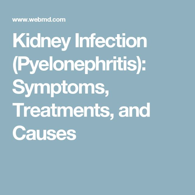 Kidney Infection (Pyelonephritis): Symptoms, Treatments, and Causes
