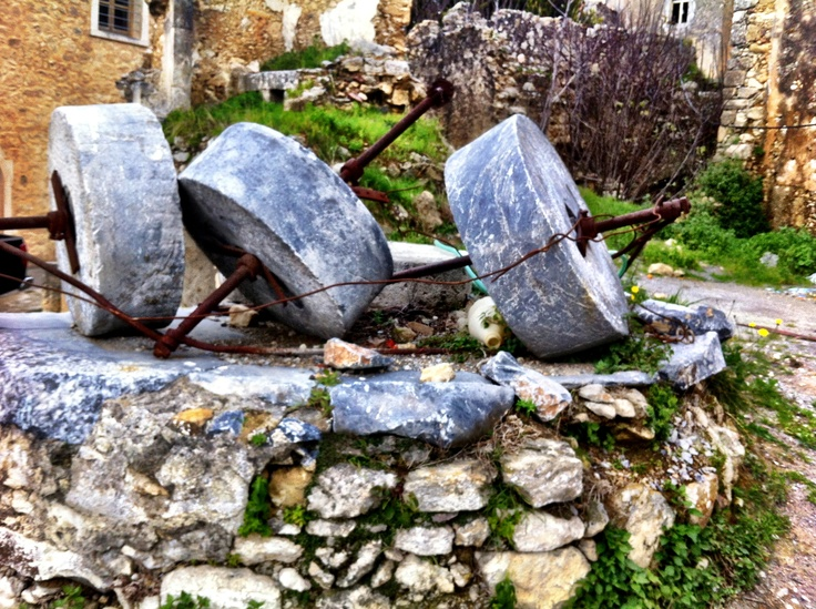 Maroulas village, Rethymno, Crete, oil press