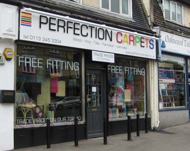 Our shop in Roundhay Road, Leeds stocks a wide range of carpets, commercial flooring leeds, laminates and wooden flooring. Offering trade prices prices on top brands such as Westex, Mowhawk, Kingsmead, Hugh Mackay, Polyflor, Karndean and Woodpecker http://perfectioncarpets.co.uk/