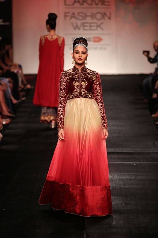 Anarkali by Vikram Phadnis at Lakme Fashion Week 2014