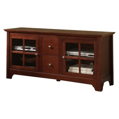 "Target - Living Room Media Stand  Solid Wood TV Console with Drawers - Brown (52"").Opens in a new window"