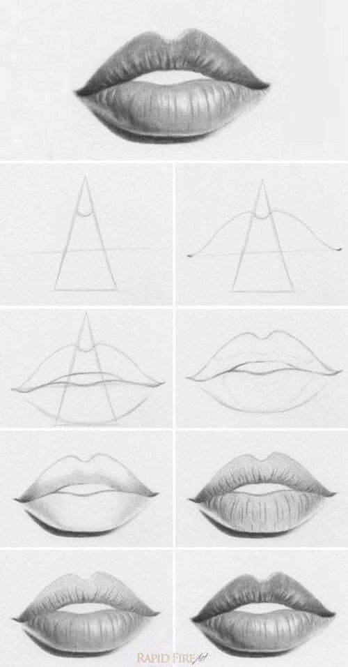 Imagen de lips, art, and draw