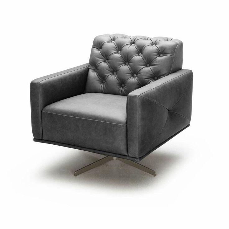 ju0026m furniture othello italian leather swivel chair