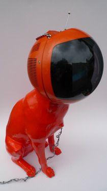 "Saatchi Art Artist Finn Stone; Sculpture, ""Cyber-dog Orange"" #art"