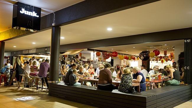 Junk restaurant in Ocean Street, Maroochydore, offers an informal vibe and low-price menu