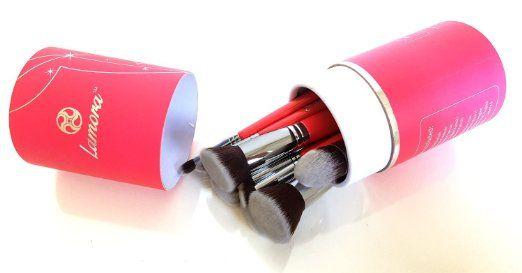 Kabuki Pinsel Set - Make Up Foundation Kosmetik Pinselset - 10 Teiliges Premium Schminkpinsel Set (Puderpinsel Foundation Rouge Pinsel Inkl.) - Ideal für Puder, Cremige und Flüssige Makeup Produkte - Super Geschenkidee - Angebotspreis nur für kurze Zeit!