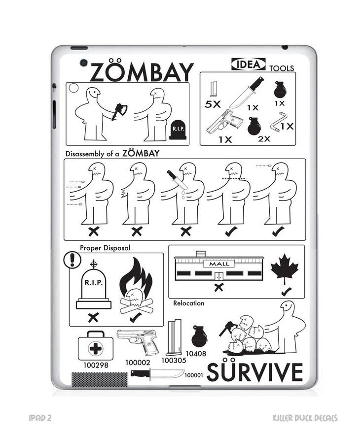 Ikea zombie ikea zombie plan ipad 2 skin by - Ikea planner cucina per ipad ...