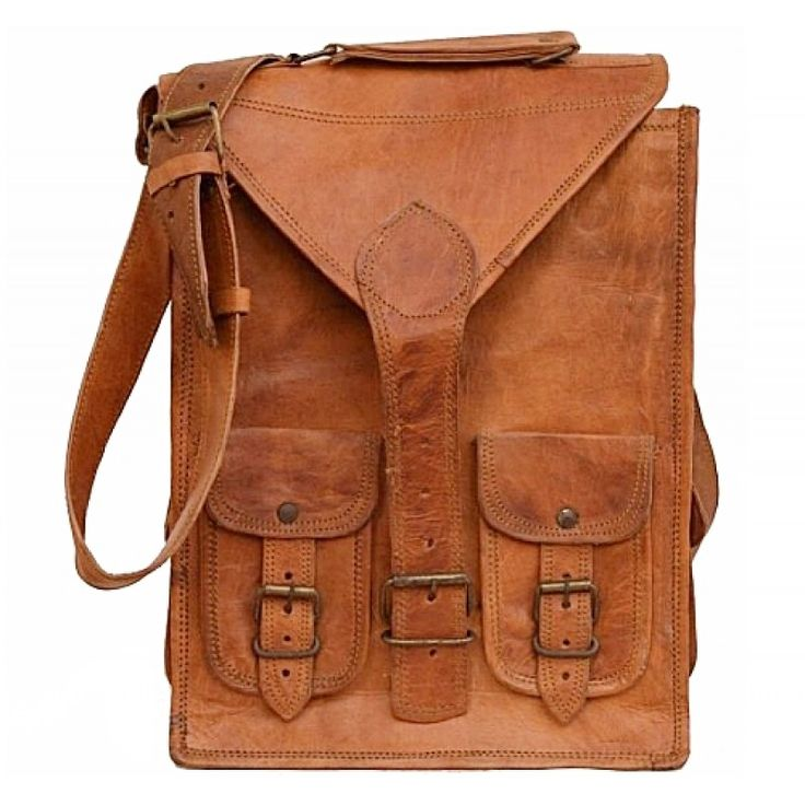 """LH32. Skórzana mała listonoszka BLANC LESACK™ torba na ramię męska. Rozmiar 10"""""""