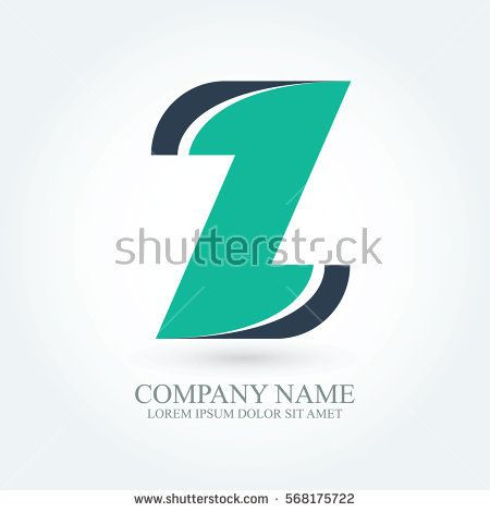 initial letter z creative circle logo typography design for brand and company identity. green and dark blue color