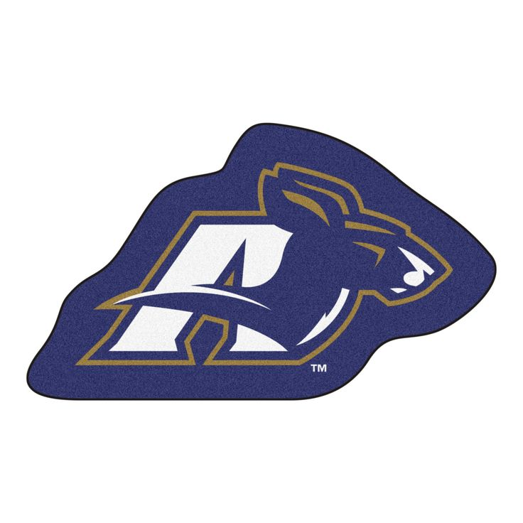 University of Akron Mascot Mat - Show your team pride with FANMATS area rugs cut in the shape of your favorite team's mascot. Made in U.S.A. 100% nylon carpet and non-skid recycled vinyl backing. Officially licensed and chromojet printed in true team colo https://www.fanprint.com/licenses/akron-zips?ref=5750