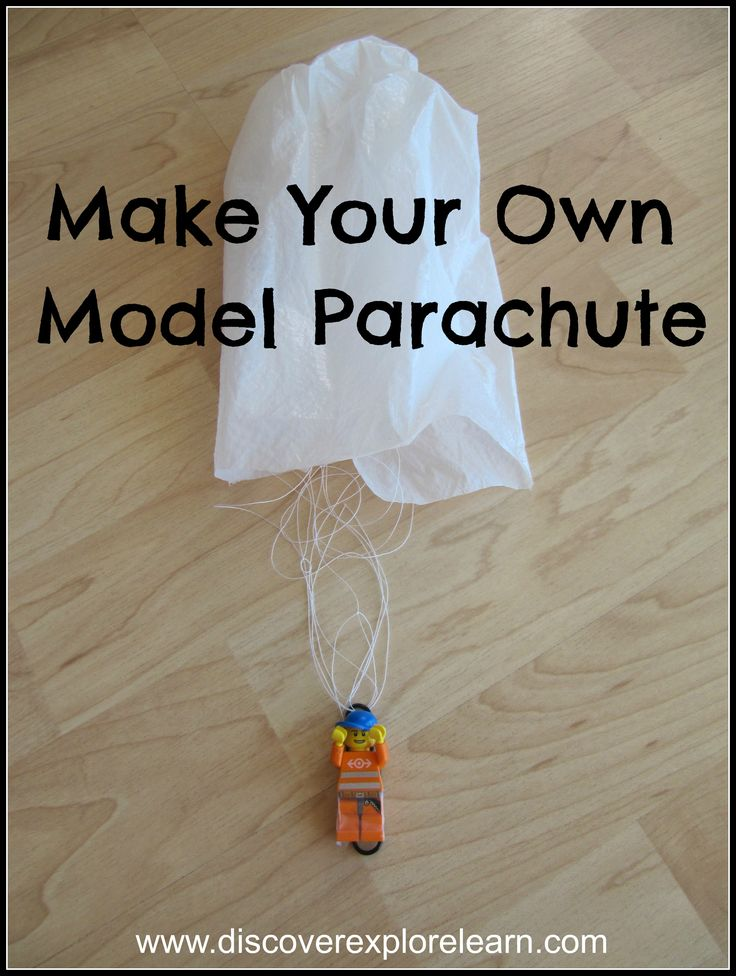 how to make parachute with polythene