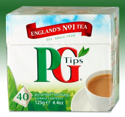 PG Tips.  This how I start my day every day. Happy that its easy to find  in stores like Wegmans.  In the old days, I used to have to have Andy's Mum mail it to me.