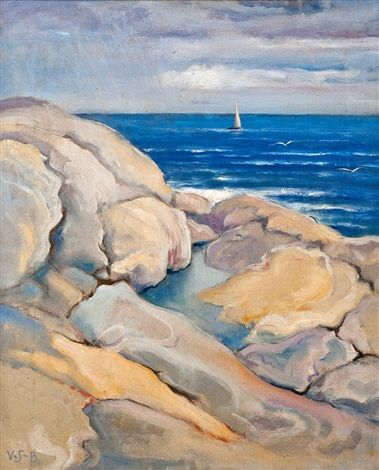 Rocks on the shore by Venny Soldan-Brofeldt