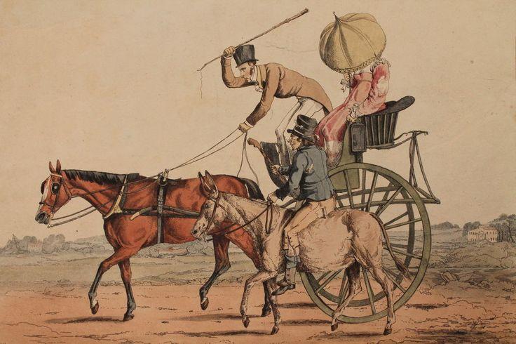 Antique 1817 Rare Georgian English Henry Alken Coaching Horse Etching Regency