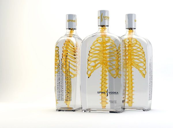This Spine-Tingling Vodka Bottle Has A Glass Human Skeleton In It - DesignTAXI.com