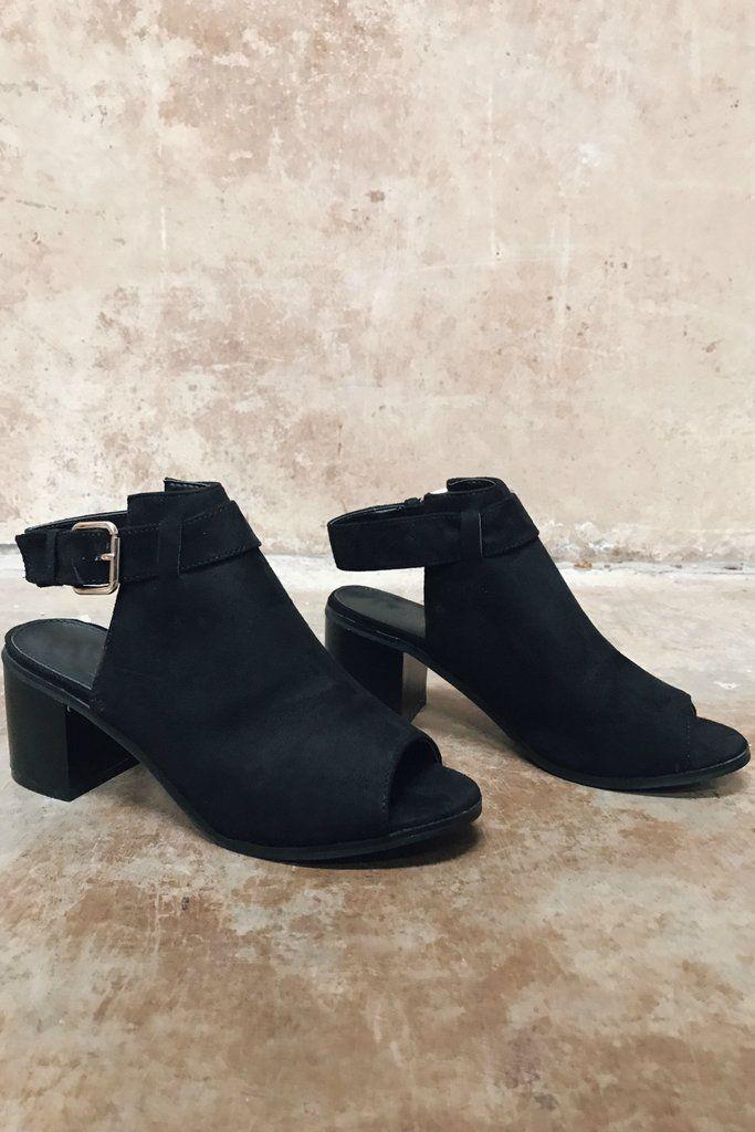 Unforgettable Night Black Peep Toe Heels - Amazing Lace