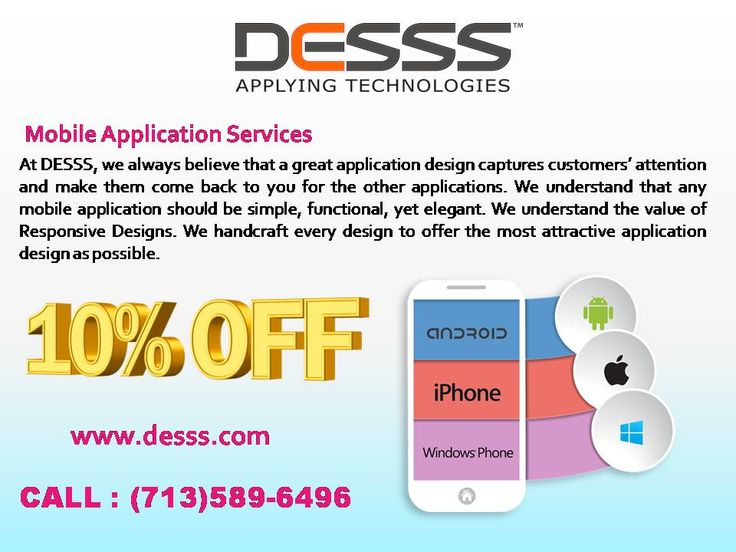 Mobile App Development Company  #DESSS is the #Mobile application #development company #offers custom mobile app development #services for #iPhone, #android and #iPad at competitive rates.  To hire our services ping at houston (713)589-6496,Texas.  Visit: http://www.desss.com.  #Mobile_App_Design_Houston #Mobile_App_Development_Houston #Mobile_App_Services_Company_Houston