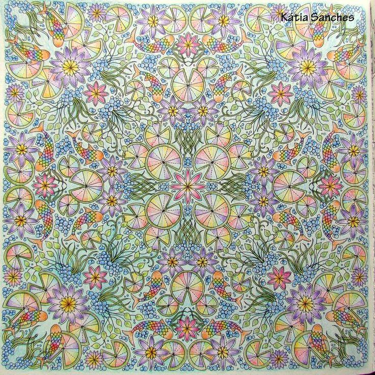 Coloring Coloringbook Secretgarden Johannabasford Livrodecolorir Jardimsecreto Fabercastell