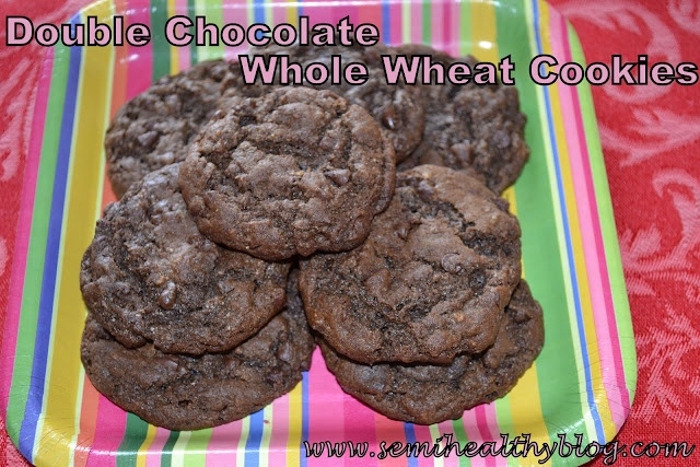 Diary of a Semi-Health Nut: Double Chocolate Whole Wheat Cookie Goodness