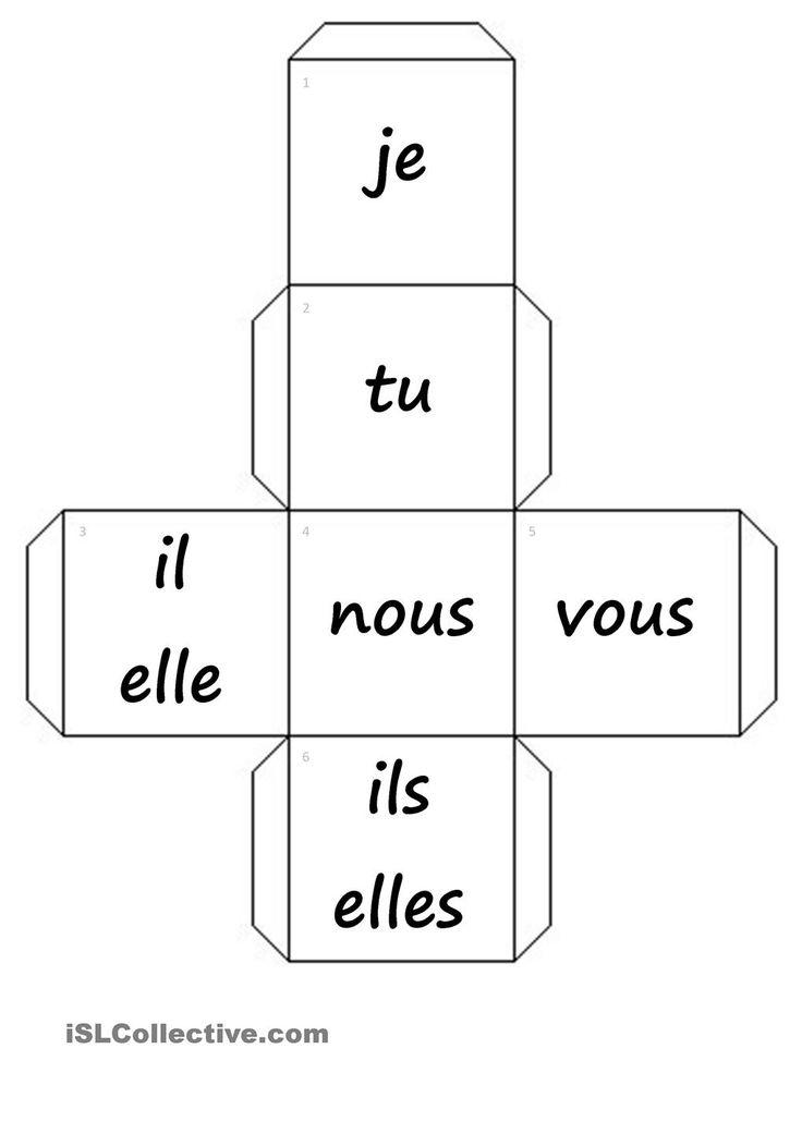 dés-pronoms personnels+verbes fiche d'exercices - Fiches pédagogiques gratuites FLE