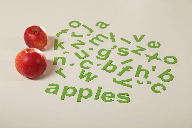 Seledynowe #Literki Magnetycznych #dlaDzieci - 45 szt w MagWords - More than Words na DaWanda.com #letters #buchstaben #magnets #alphabet #apple #BackToSchool #NaukaCzytania