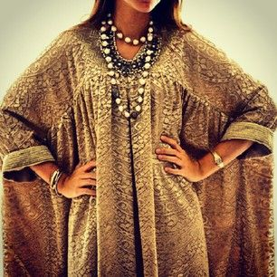 Caftan - I'm going to wear these all the time when I get older. Maybe I should start this summer? I think it looks beautiful on everyone.