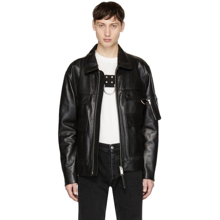 Alyx - Black Leather Police Jacket