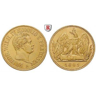 Brandenburg-Preussen, Königreich Preussen, Friedrich Wilhelm IV., Doppelter Friedrichs d`or 1841, f.vz: Friedrich Wilhelm IV.… #coins