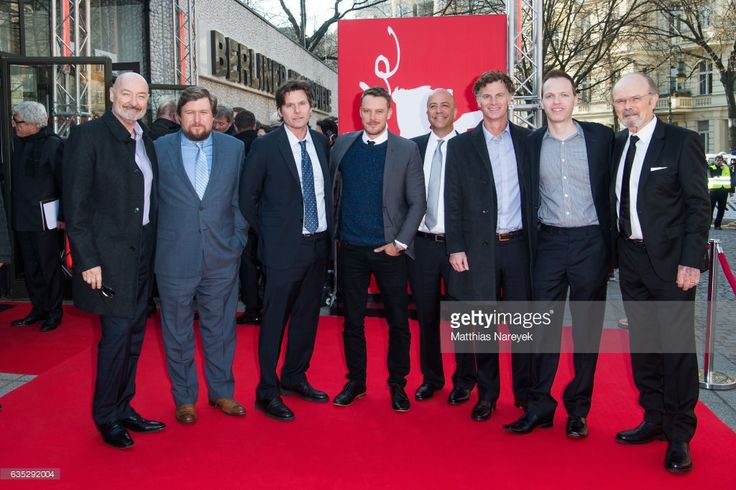 Kurtwood Smith, Michael Chernus, Terry O'Quinn, Michael Dorman, executive producer Steve Conrad, writer Bruce Terris, executive producer Charlie Gogolak, Amazon executive Marc Resteghini attend the 'Patriot' premiere during the 67th Berlinale International Film Festival Berlin at Haus Der Berliner Festspiele on February 14, 2017 in Berlin, Germany.